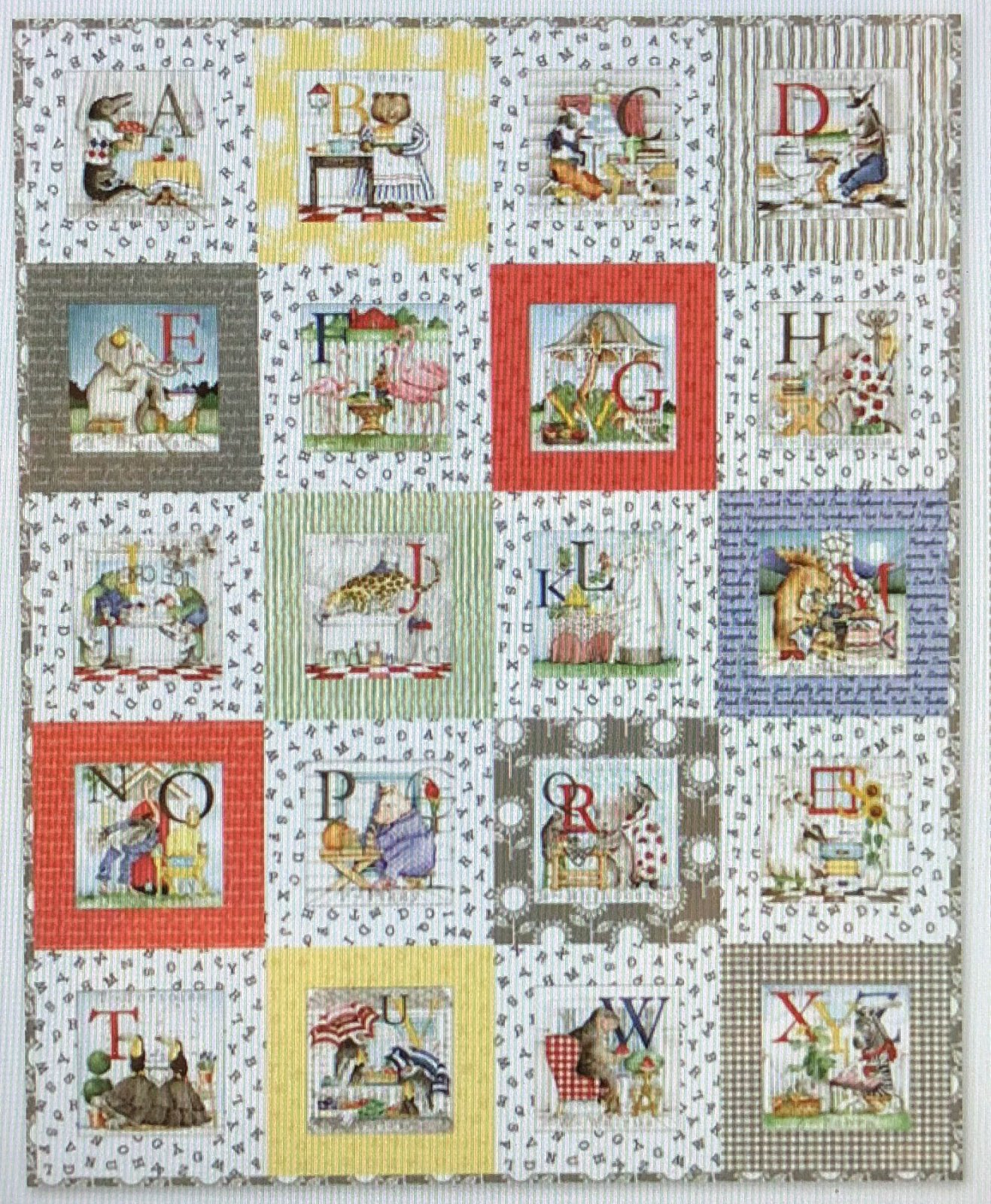 Hungry Animal Alphabet Quilt Kit