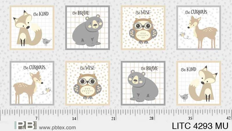 Little Critters Square Animals Panel