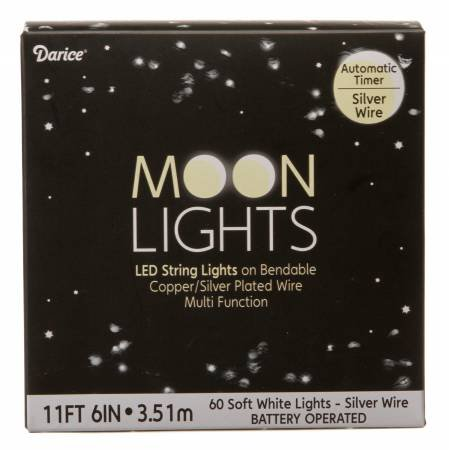 Silver Wire Battery Operated Moon Lights