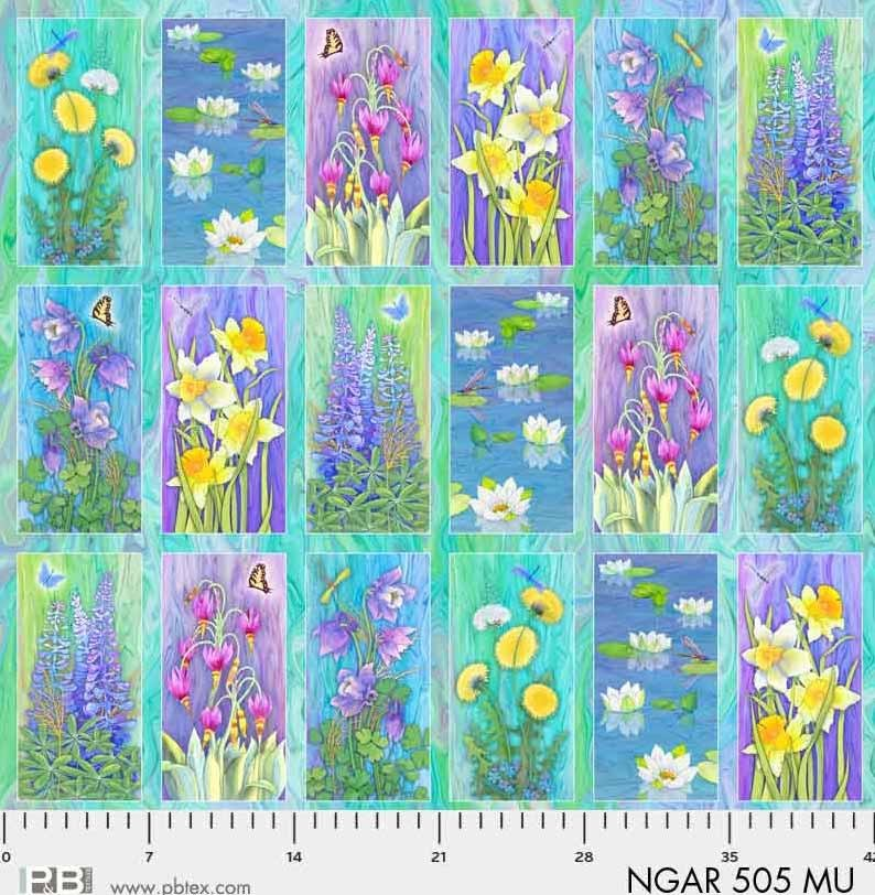 Nature's Garden 505MU Blocks Panel