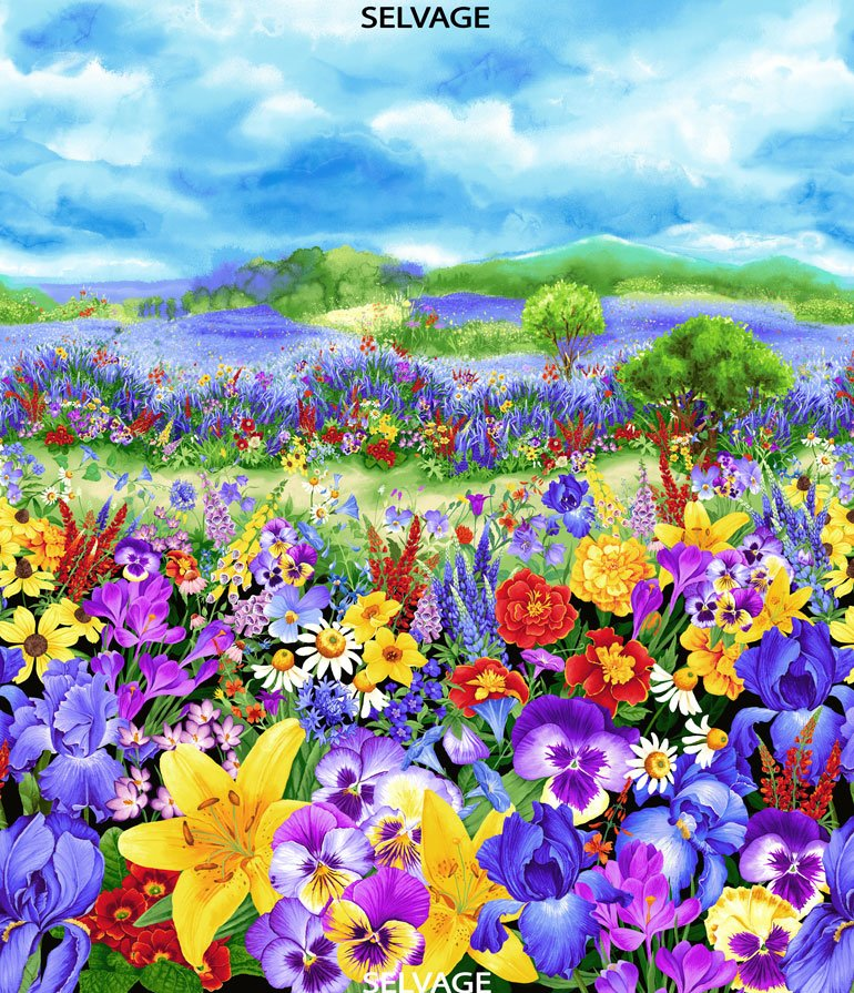 Wild Meadow - Pansy Meadow 36 Panel
