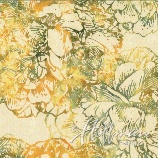 Bali Batiks - Large Flower - Sunny