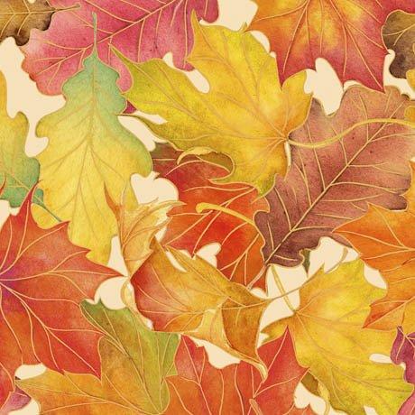 Harvest Bounty Packed Leaves Ecru