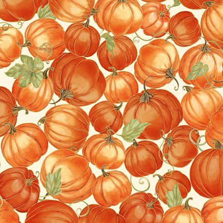 Harvest Bounty Packed Pumpkins - Ecru