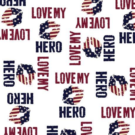 Love My Hero Words White