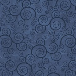 Harmony Curly Scroll - Slate Blue