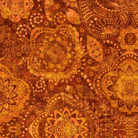 Caravan - Tonal Paisley Burnt Orange