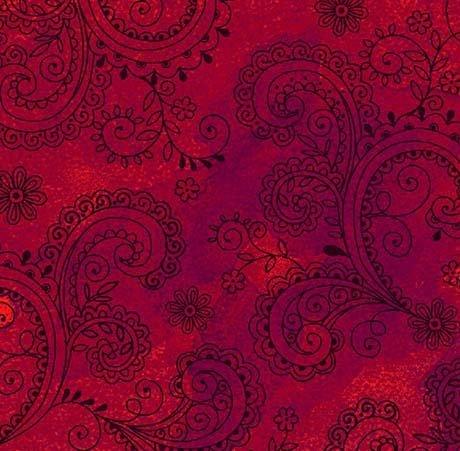 Avalon Decorative Filigree 108 - Red