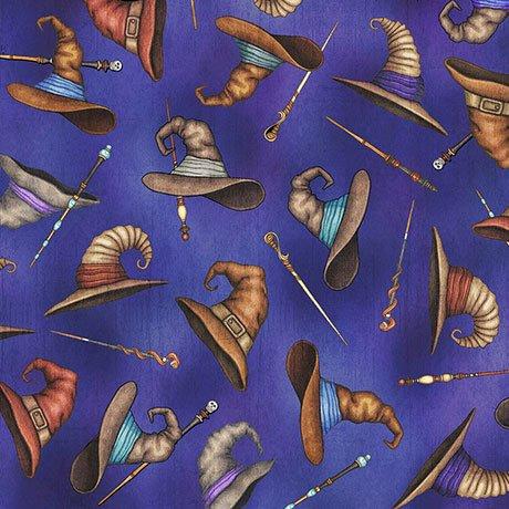 Spellbound Wizard Hats & Wands - Blue