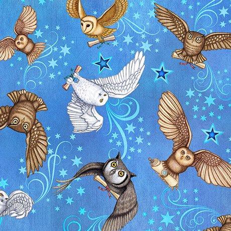 Spellbound Owls - Light Blue