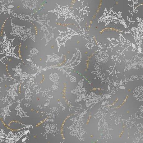 Enchanted Floral - Floral & Vine Toile - Gray