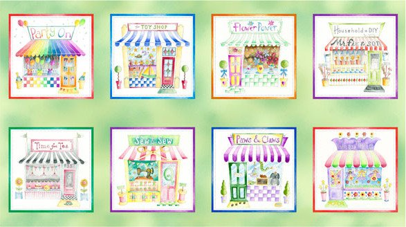 Shop Hop Storefront Picture Patches - Spring Green