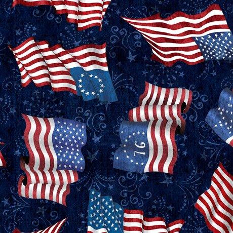 American Pride Flag Toss - Midnight Navy