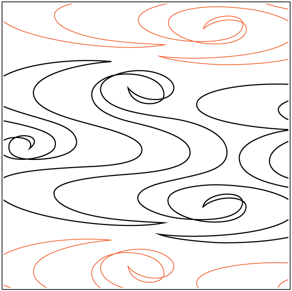 Paper Pantograph 9.25in Ripples