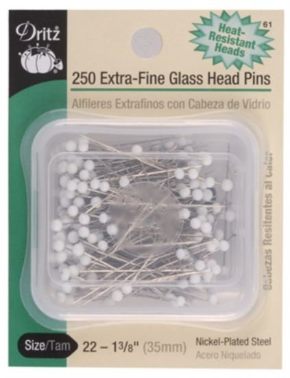 Dritz Extra-Fine Glass Head Pins 1.375 250 ct