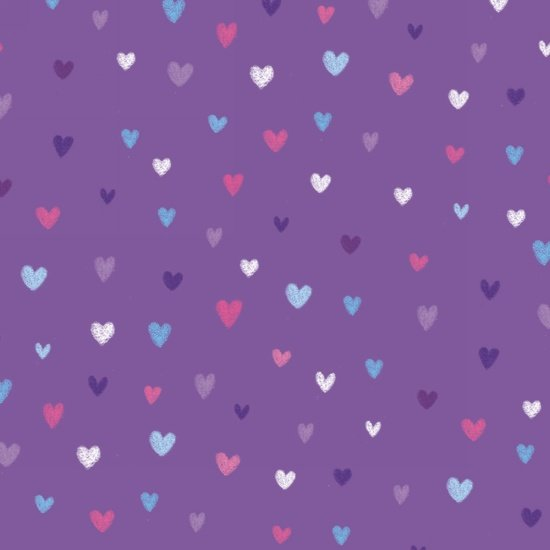 Unicorn Kisses - Small Hearts purple