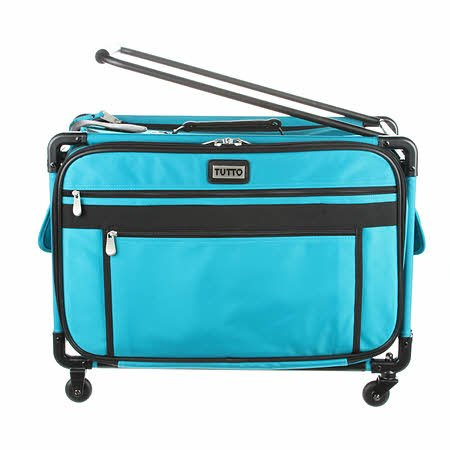 Tutto Sewing Machine Case On Wheels Large 22in Teal
