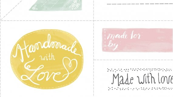 Made with Love Quilt Label Panel