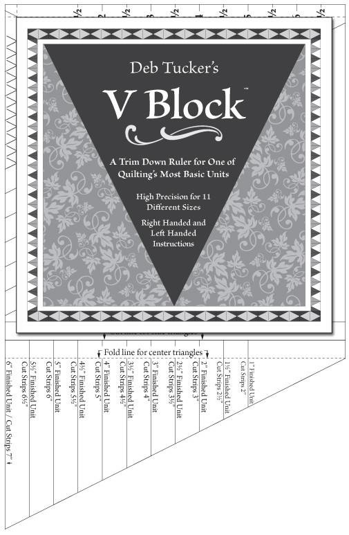 V Block Trimmer Ruler