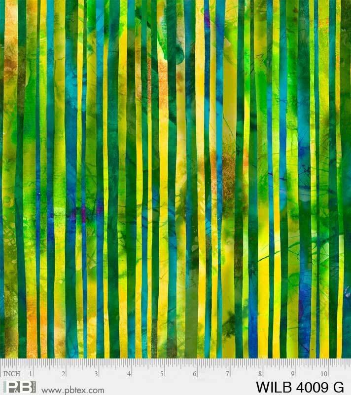 Wild Birds - Stripe Green