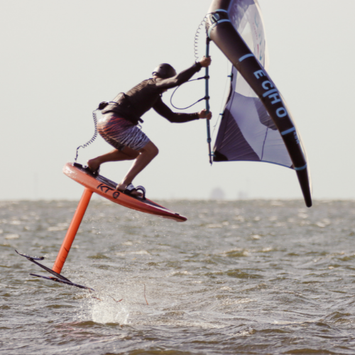 man wing foiling in florida