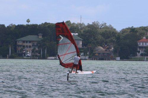 windsurfer foiling