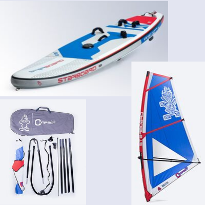 Starboard Inflatable IGO WindSUP w/ Starboard Compact Rig and Enduro 2 Paddle