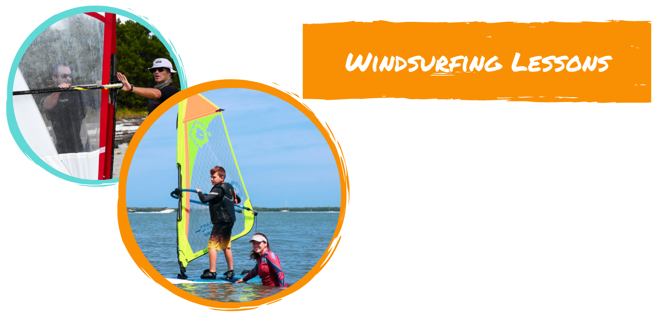 windsurfing lessons being taiught in st. pete beach