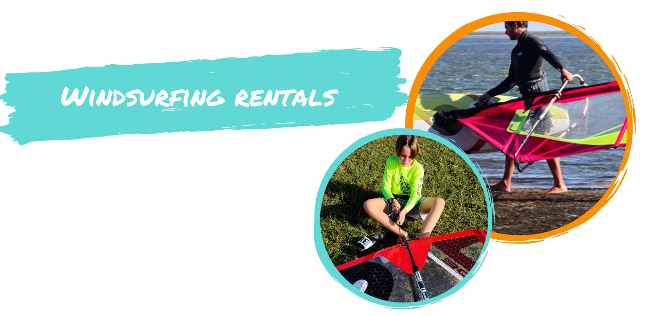 windsurf rental gear