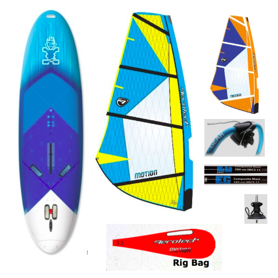 Starboard Rio Long Tail w/ Aerotech Motion Rig