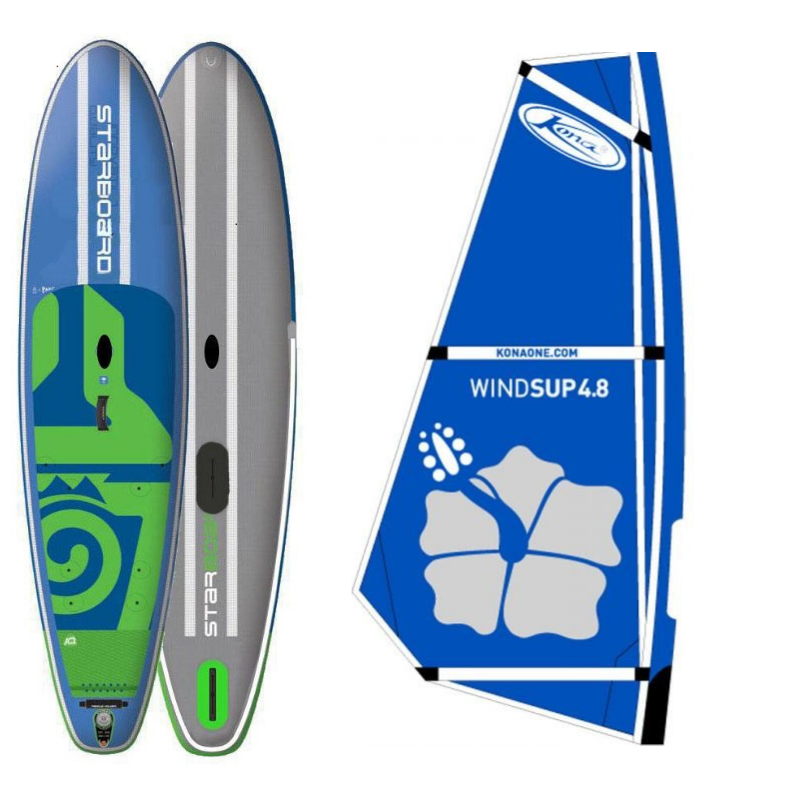Starboard Inflatable Wind/SUP with Windsurf Rig
