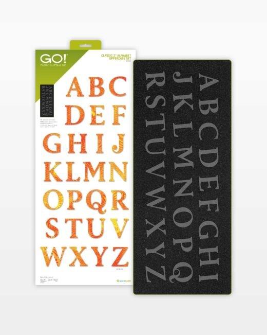 Accuquilt Go! Classic 2 Alphabet Uppercase Set #55559