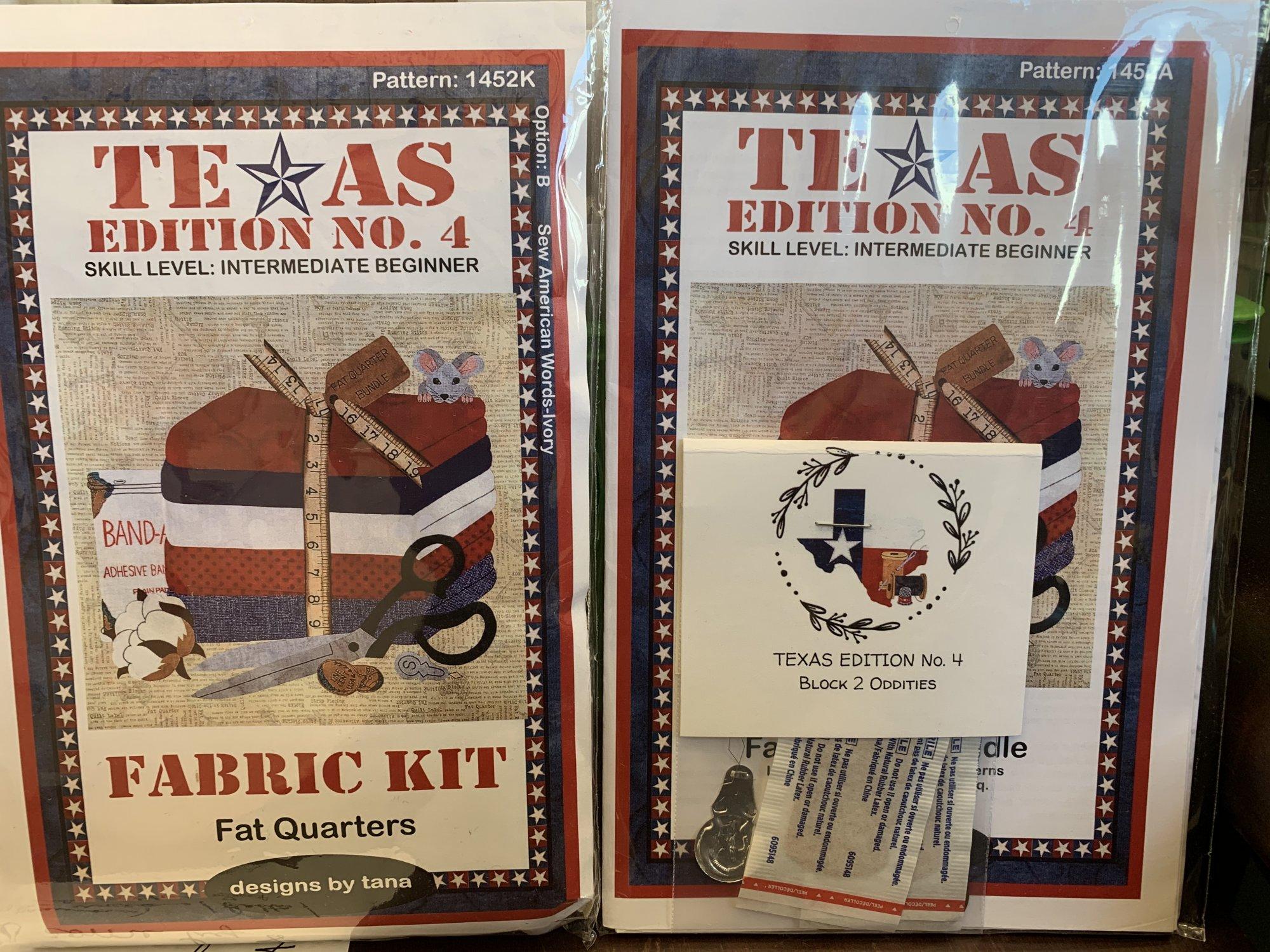Texas BOM Quiltin' N Texas - Fat Quarter Bundle Block 1452A