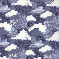 Kate Spain Clouds - Dk Blue