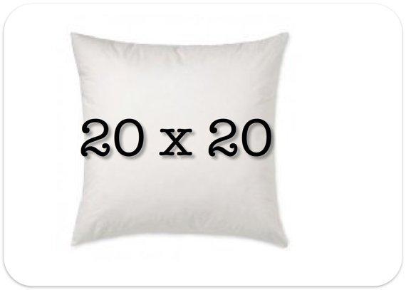 Pillow Form 20 x 20-- 90% White Goose Feathers, 10% White Goose Down