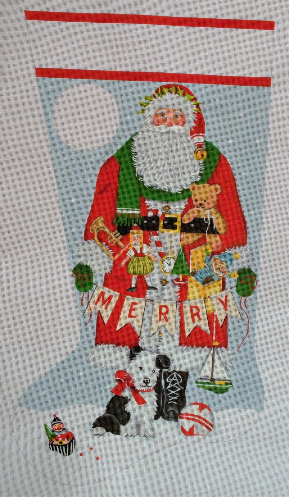 Merry Santa sock