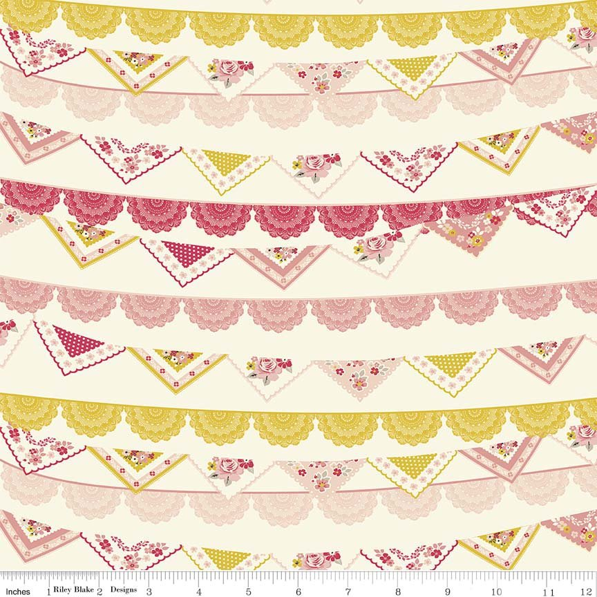 4m Vintage Day Dream Banner - C5561 Cream