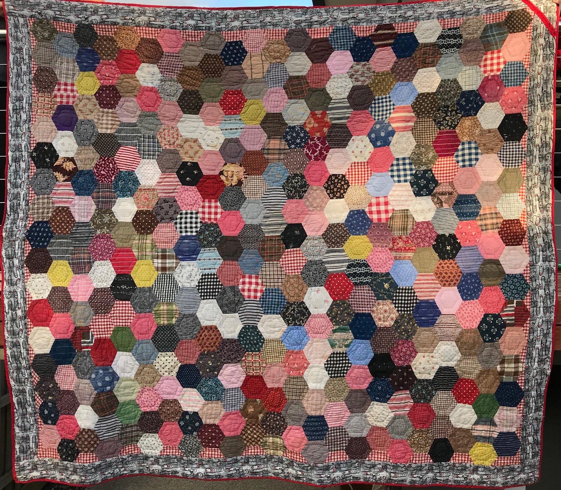 Late 1800s Hexagon Quilt