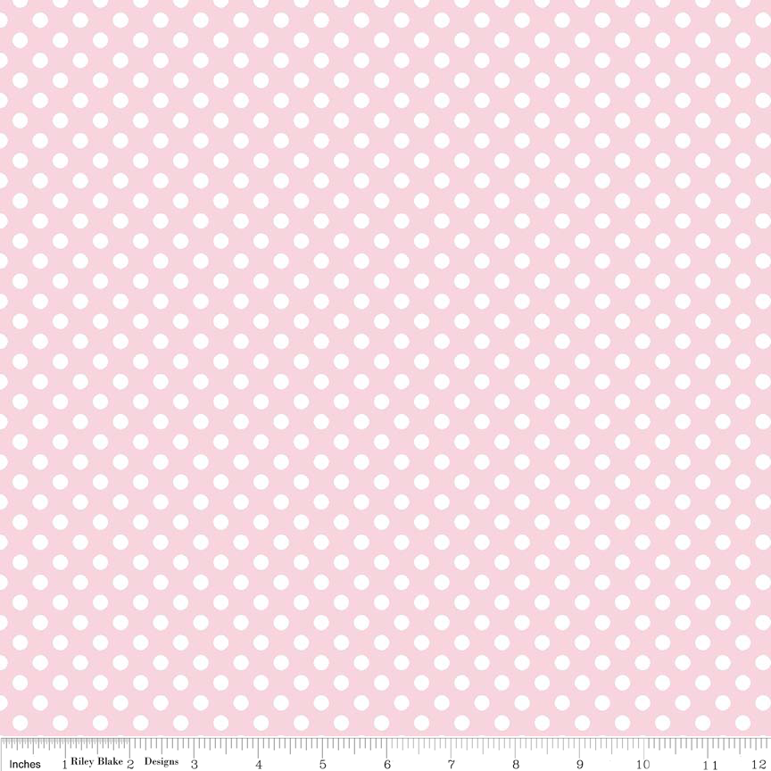 8m Small Dots Baby Pink - C350 75