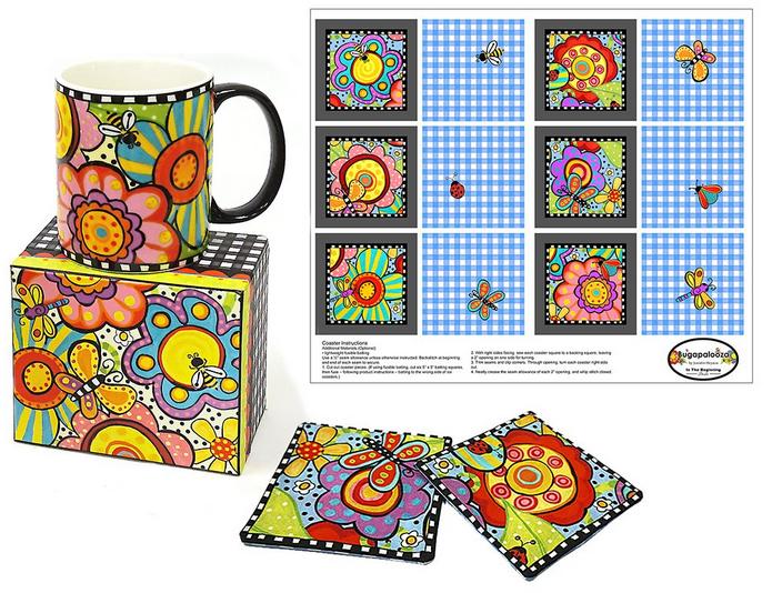 Bugapalooza Coffee Mug with Coaster Panel