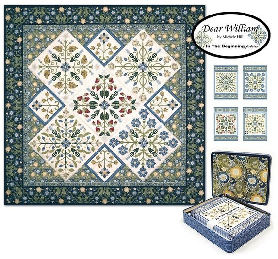 Dear William Note Cards with Quilt Panel by Michele Hill