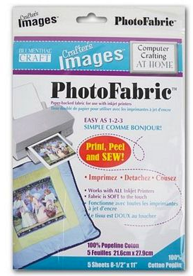 Cotton Poplin Crafter's Images Photo Fabric 5/pkg