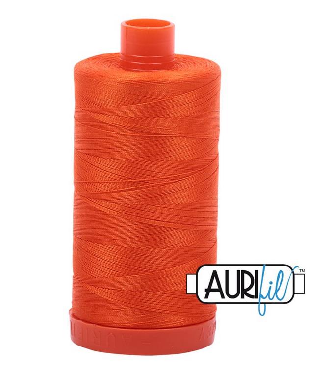 Cotton Mako: Solid 50 wt - 1422 yds Neon Orange 1104