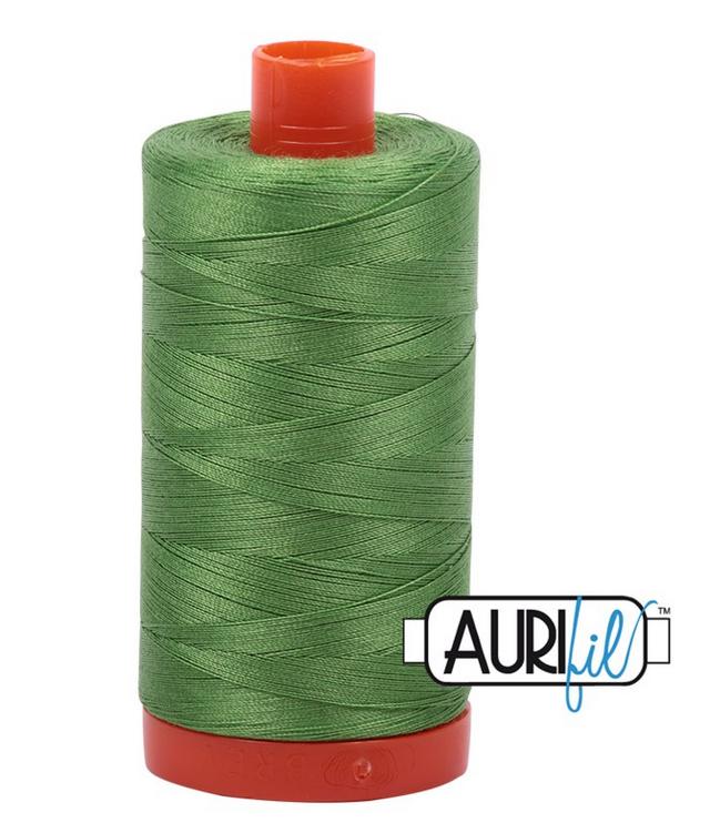 Cotton Mako: Solid 50 wt - 1422 yds Grass Green 1114