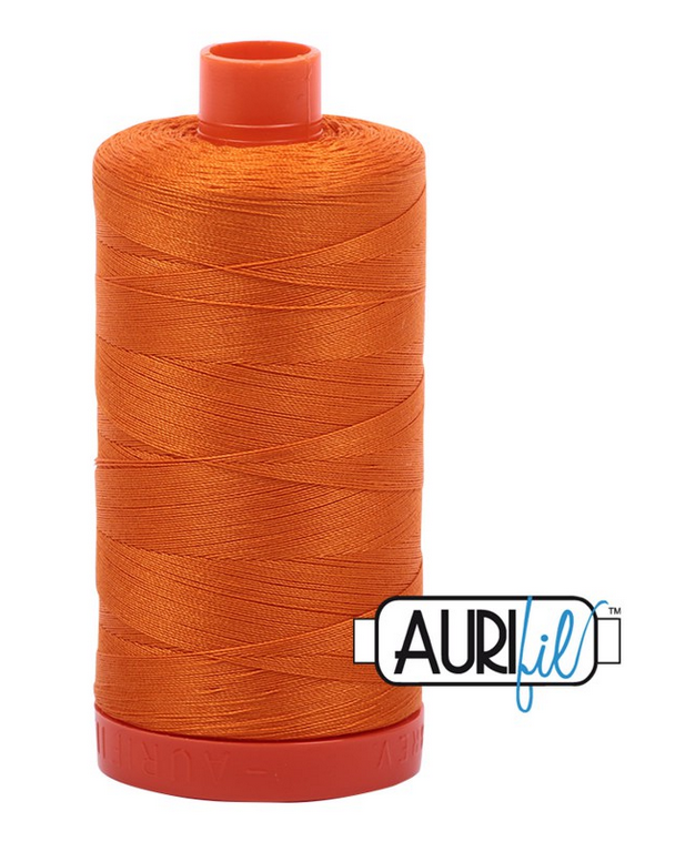 Aurifil Solid 50 wt - 1422 yds Bright Orange 1133