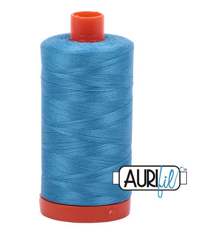 Cotton Mako: Solid 50 wt - 1422 yds Medium Teal 1320