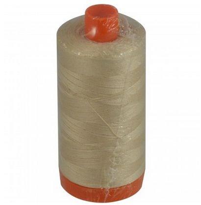Aurifil Cotton Mako: 50 wt - 1422 yds Light Sand -2000