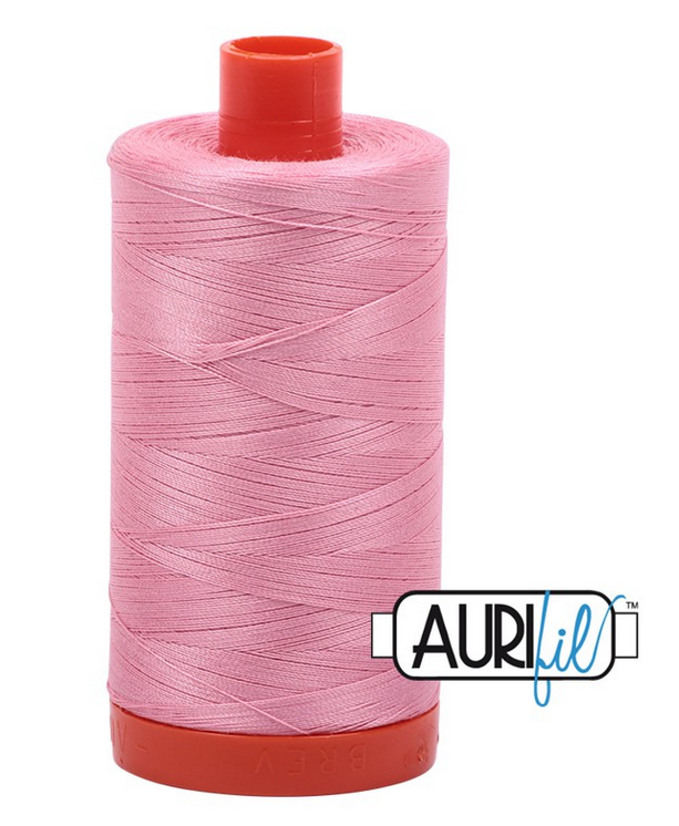 Cotton Mako: Solid 50 wt - 1422 yds Bright Pink 2425