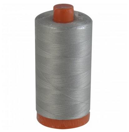 Aurifil Cotton Mako: 50 wt - 1422 yds Aluminum -2615