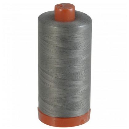 Aurifil Cotton Mako: 50 wt - 1422 yds Stainless Steal -2620